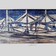 Barco Azul con Plata - Capital del Arte - Artista: Gabriel Macotela - Obras de excelente gusto conjugando diversos estilos, formas, corrientes.