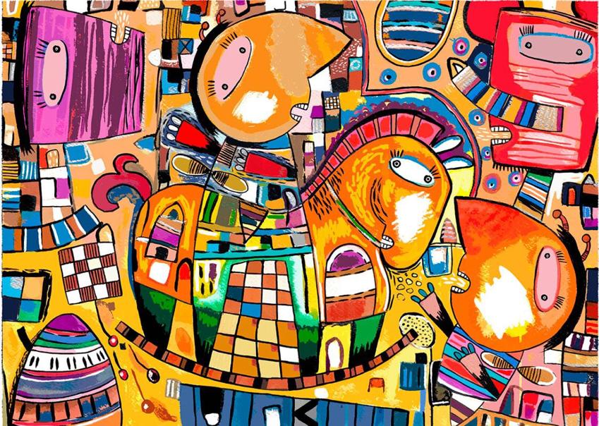 Caballito de Troya - Capital del Arte - Artista: Eduardo Andriacci - Obras de excelente gusto conjugando diversos estilos, formas, corrientes.