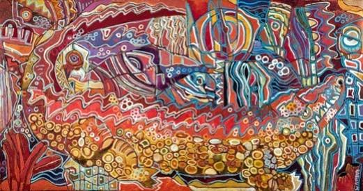 Cocodrilo Luminoso - Capital del Arte - Artista: Carlos Humberto - Obras de excelente gusto conjugando diversos estilos, formas, corrientes.