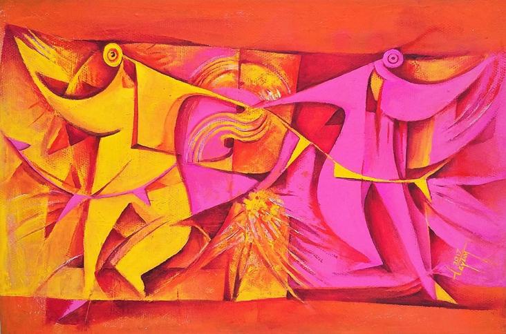 Cuyaaca´ (Bailando) - Capital del Arte - Artista: Julián Lopez Tayán - Obras de excelente gusto conjugando diversos estilos, formas, corrientes.