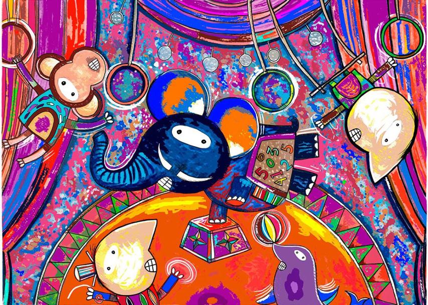 Elefante Cirquero - Capital del Arte - Artista: Eduardo Andriacci - Obras de excelente gusto conjugando diversos estilos, formas, corrientes.