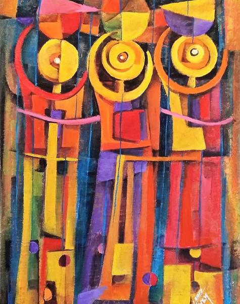 Los Comerciantes - Capital del Arte - Artista: Julián Lopez Tayán - Obras de excelente gusto conjugando diversos estilos, formas, corrientes.
