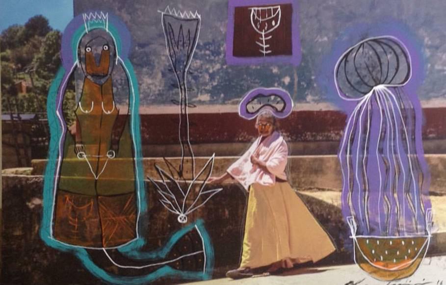 Mujer en Plaza - Capital del Arte - Artista: Chu Huiini - Obras de excelente gusto conjugando diversos estilos, formas, corrientes.