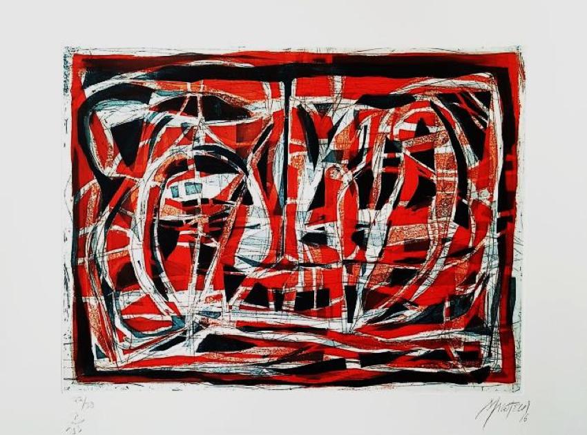 Paisaje Rojo - Capital del Arte - Artista: Gabriel Macotela - Obras de excelente gusto conjugando diversos estilos, formas, corrientes.