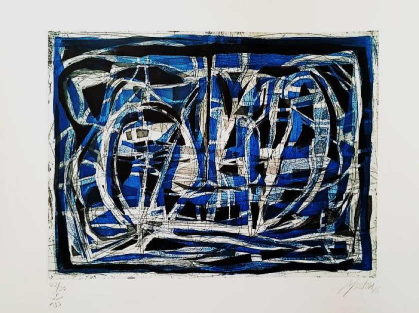 Paisaje Azul - Capital del Arte - Artista: Gabriel Macotela - Obras de excelente gusto conjugando diversos estilos, formas, corrientes.