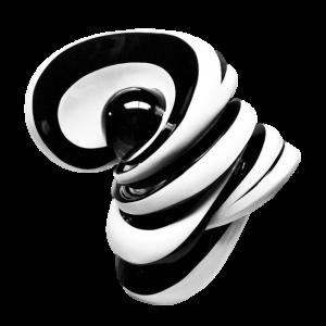 Corazón Espiral Blanco y Negro - Capital del Arte - Artista: Rodrigo Vargas - Obras de excelente gusto conjugando diversos estilos, formas, corrientes.