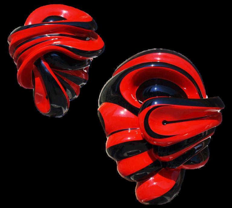 Corazón Rojo y Negro - Capital del Arte - Artista: Rodrigo Vargas - Obras de excelente gusto conjugando diversos estilos, formas, corrientes.