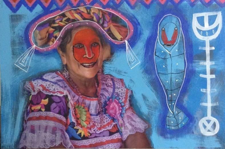 Mujer Mayor - Capital del Arte - Artista: Chu Huiini - Obras de excelente gusto conjugando diversos estilos, formas, corrientes.