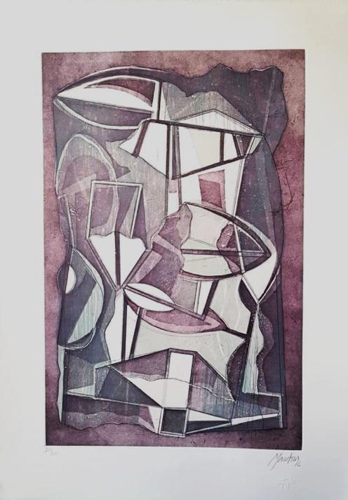 Paisaje Gris Vertical - Capital del Arte - Artista: Gabriel Macotela - Obras de excelente gusto conjugando diversos estilos, formas, corrientes.