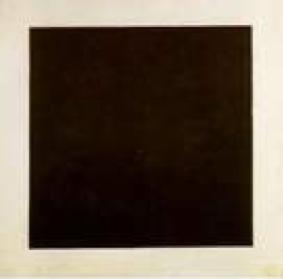 """""""Cuadrado negro sobre fondo blanco""""  de Malévich 1913"""
